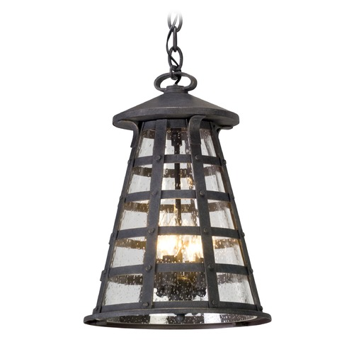 Troy Lighting Troy Lighting Benjamin Vintage Iron LED Outdoor Hanging Light FL5167