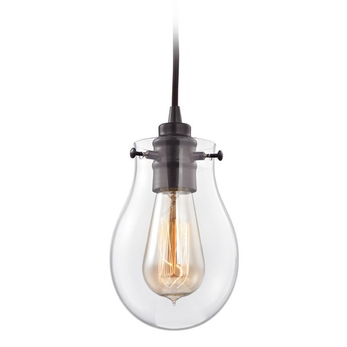 Elk Lighting Elk Lighting Jaelyn Oil Rubbed Bronze Mini-Pendant Light with Bowl / Dome Shade 31934/1