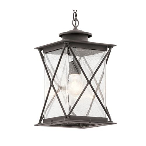 Kichler Lighting Kichler Lighting Argyle Weathered Zinc LED Outdoor Hanging Light 49747WZCL16