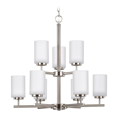 Sea Gull Lighting Sea Gull Lighting Oslo Brushed Nickel Chandelier 31162-962