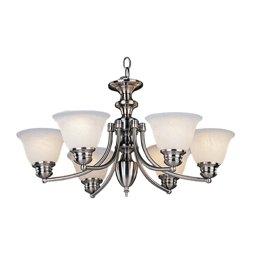 Maxim Lighting Maxim Lighting Malibu Satin Nickel Chandelier 2684MRSN