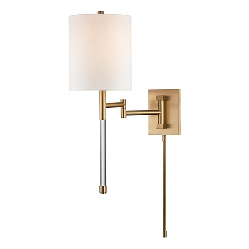 Hudson Valley Lighting Hudson Valley Lighting Englewood Aged Brass Swing Arm Lamp 9421-AGB