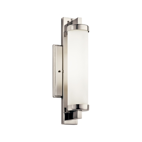 Kichler Lighting Kichler Sconce Wall Light with White in Polished Chrome Finish 10481PC