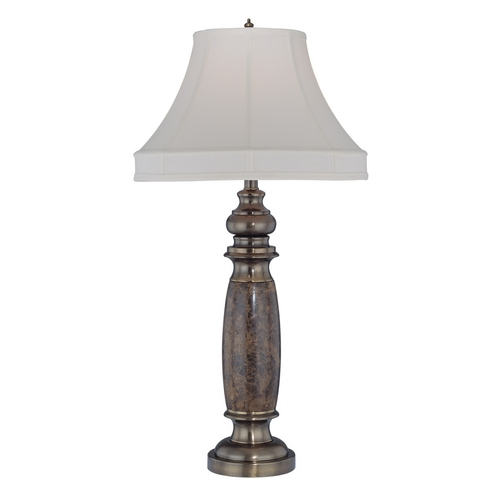 Lite Source Lighting Lite Source Lighting Holbrook Antique Brass Table Lamp with Bell Shade EL-30034