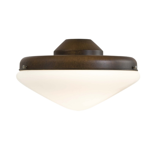 Minka Aire Light Kit with White in Mossoro Walnut Finish K9401-L-MW