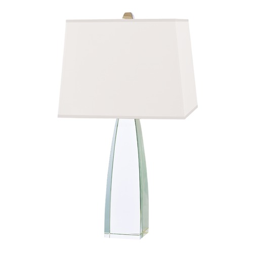Hudson Valley Lighting Modern Table Lamp with White Shade in Polished Nickel Finish L484-PN-WS