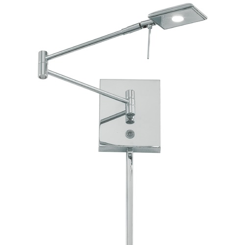 George Kovacs Lighting Modern LED Swing Arm Lamp in Chrome Finish P4328-077