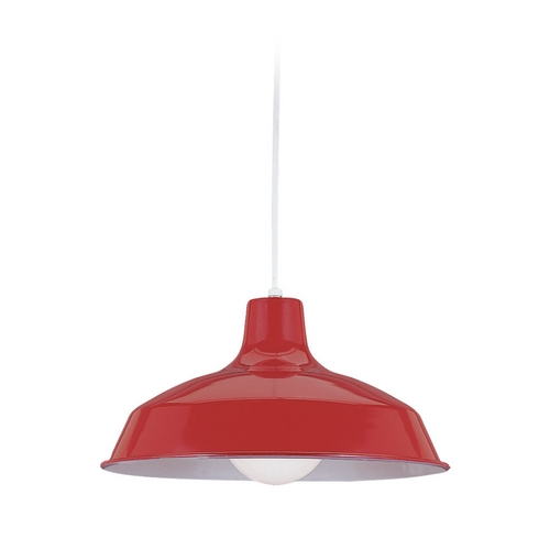 Sea Gull Lighting Farmhouse Barn Light Red Painted Shade by Sea Gull Lighting 6519-21
