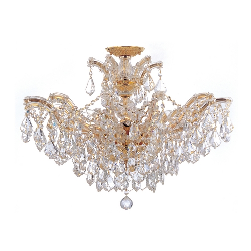 Crystorama Lighting Crystal Chandelier in Polished Gold Finish 4439-GD-CL-MWP