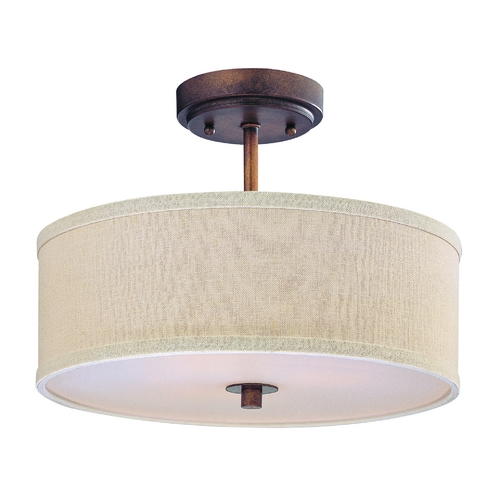 Design Classics Lighting Remington Bronze Drum Pendant Light with Cream Linen Shade DCL 6543-604 SH7485 KIT