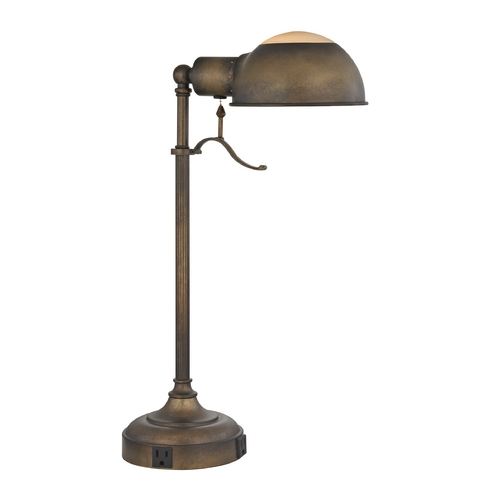 Design Classics Lighting Desk Lamp in Remington Bronze Finish DCL 6077-1-604