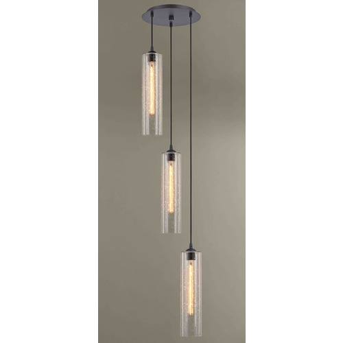 Design Classics Lighting Gala Fuse Bronze Multi-Light Pendant with Cylindrical Shade 583-220 GL1641C