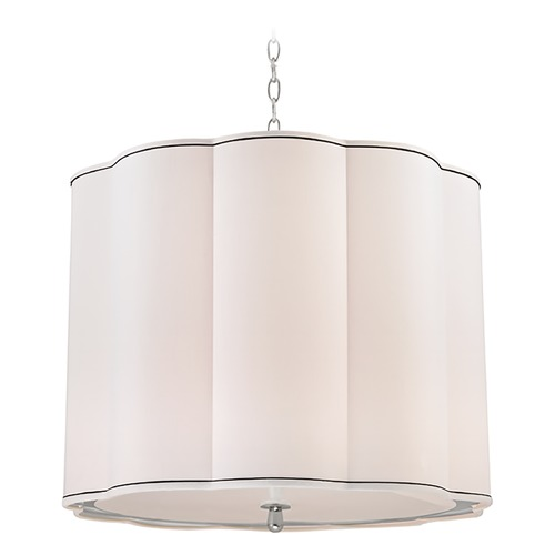 Hudson Valley Lighting Sweeny 5 Light Pendant Light Drum Shade - Polished Nickel 7925-PN
