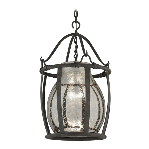 Troy Lighting Pendant Light with Mercury Glass in Chianti Bronze Finish F3596