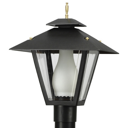 Wave Lighting Wave Lighting Marlex Colonial Black Post Light 114-G26
