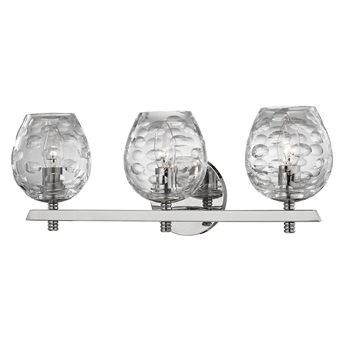 Hudson Valley Lighting Burns 3 Light Bathroom Light - Polished Nickel 1253-PN