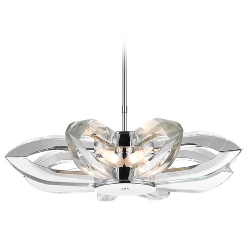 Golden Lighting Golden Lighting Nan Chrome Chandelier C148-08-CH