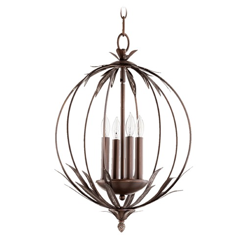 Quorum Lighting Quorum Lighting Flora Vintage Copper Pendant Light 6372-4-39