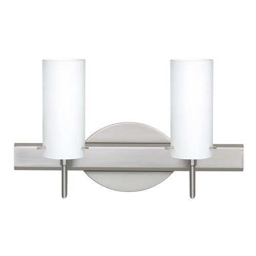 Besa Lighting Besa Lighting Copa Satin Nickel LED Bathroom Light 2SW-440307-LED-SN