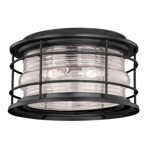 Vaxcel Lighting Hyannis Textured Black Outdoor Ceiling Light by Vaxcel Lighting T0167