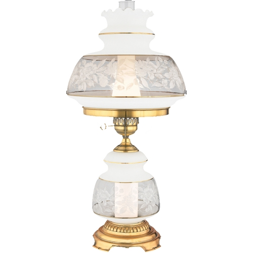 Quoizel Lighting Table Lamp with Brown Glass in Gold Polished Flem Finish SL703G
