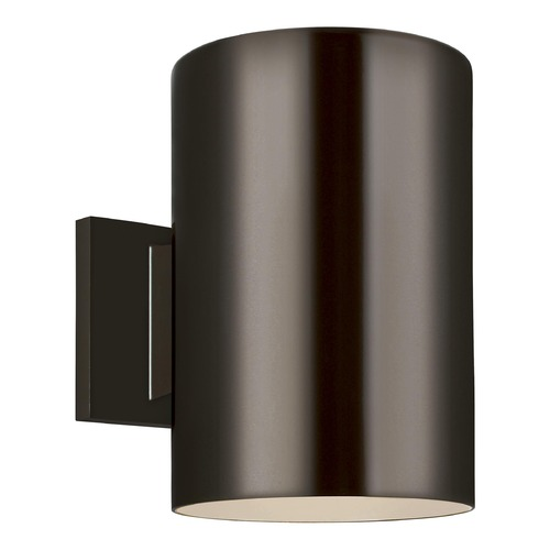 Sea Gull Lighting Sea Gull Lighting Outdoor Cylinders Bronze LED Outdoor Wall Light 8313901-10/T