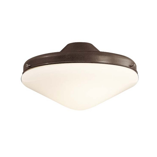 Minka Aire Light Kit with White in Oil Rubbed Bronze Finish K9401-L-ORB