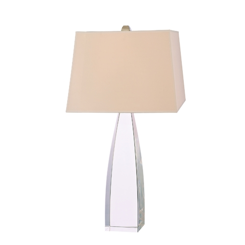 Hudson Valley Lighting Modern Table Lamp with Beige / Cream Paper Shade in Polished Nickel Finish L486-PN
