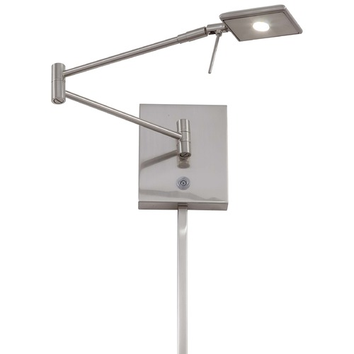 George Kovacs Lighting Modern LED Swing Arm Lamp in Brushed Nickel Finish P4328-084