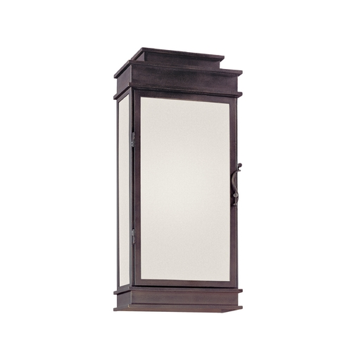 Troy Lighting Outdoor Wall Light with Clear Glass in Vintage Bronze Finish BF2973