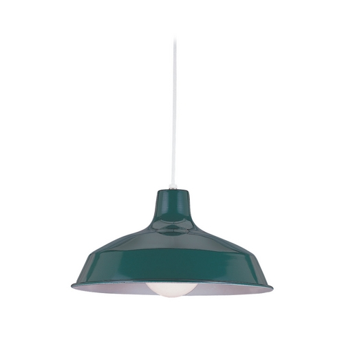 Sea Gull Lighting Modern Pendant Light in Emerald Green Finish 6519-95