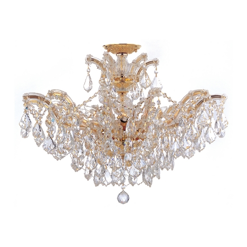 Crystorama Lighting Crystal Chandelier in Polished Gold Finish 4439-GD-CL-S