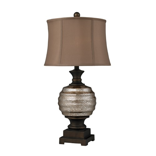 Dimond Lighting Dimond Lighting Antique Mercury Glass, Bronze Table Lamp with Drum Shade D2308