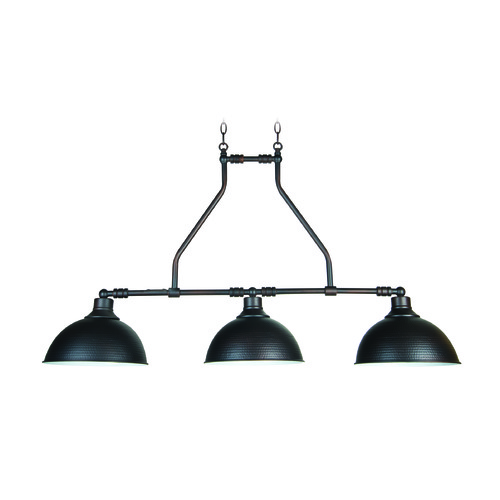 Jeremiah Lighting Jeremiah Timarron Aged Bronze Island Light with Bowl / Dome Shade 35973-ABZ