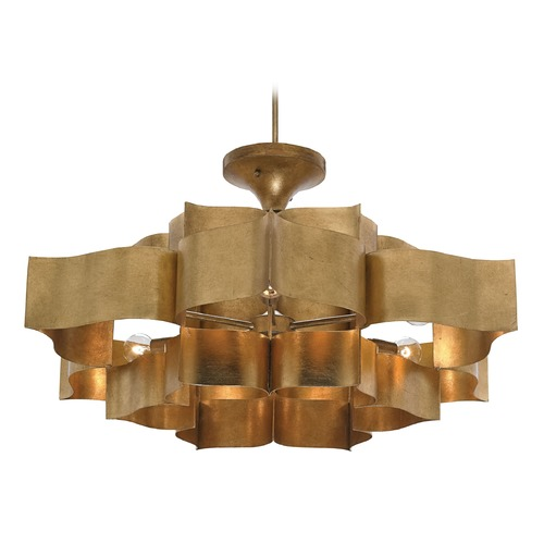 Currey and Company Lighting Currey and Company Lighting Grand Antique Gold Leaf Pendant Light 9494