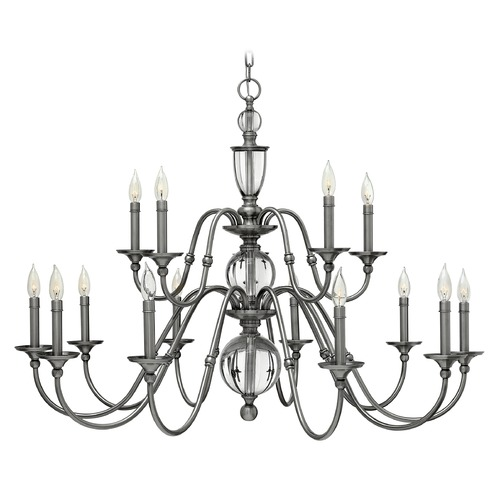Hinkley Lighting Hinkley Lighting Eleanor Polished Antique Nickel Chandelier 4959PL