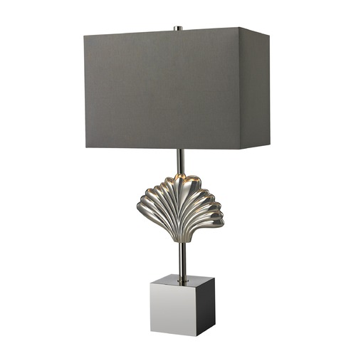 Dimond Lighting Dimond Lighting Polished Chrome Table Lamp with Rectangle Shade D2675