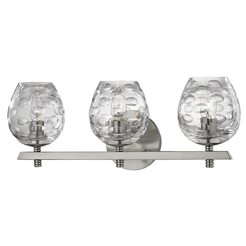 Hudson Valley Lighting Burns 3 Light Bathroom Light - Satin Nickel 1253-SN