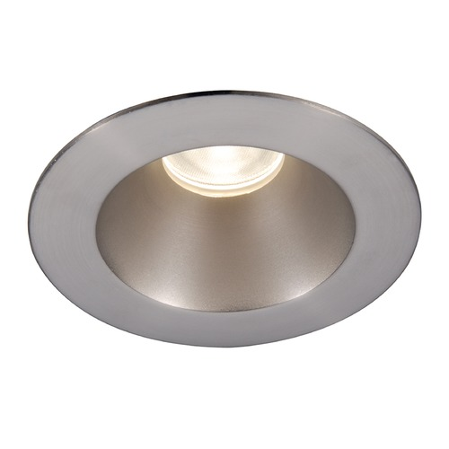 WAC Lighting WAC Lighting Round Brushed Nickel 3.5-Inch LED Recessed Trim 2700K 920LM 30 Degree HR3LEDT218PN927BN
