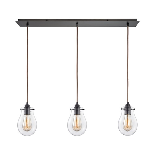 Elk Lighting Elk Lighting Jaelyn Oil Rubbed Bronze Multi-Light Pendant with Bowl / Dome Shade 31934/3LP