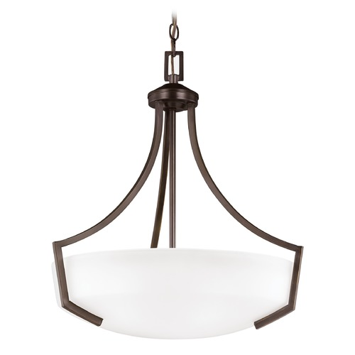 Sea Gull Lighting Sea Gull Lighting Hanford Burnt Sienna LED Pendant Light with Bowl / Dome Shade 6624503EN3-710