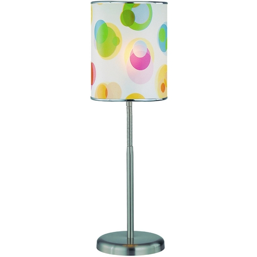 Lite Source Lighting Modern Table Lamp in Polished Steel Finish LS-21272