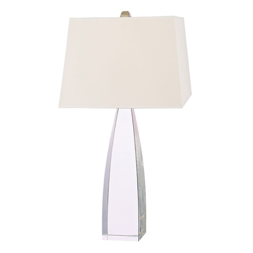 Hudson Valley Lighting Modern Table Lamp with White Shade in Polished Nickel Finish L486-PN-WS