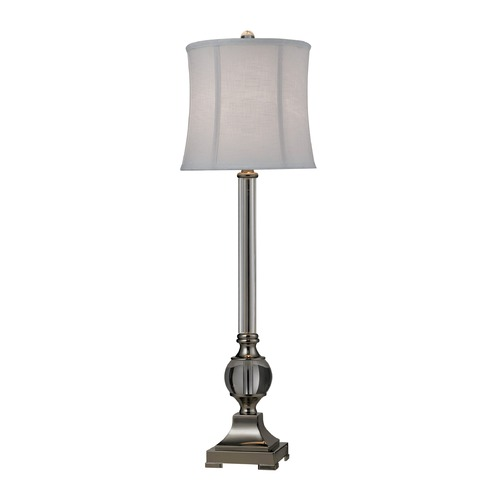 Dimond Lighting Dimond Lighting Clear, Polished Nickel Table Lamp with Drum Shade D2309