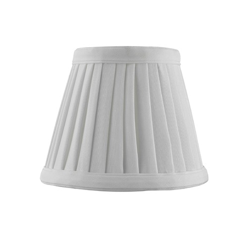 Design Classics Lighting Clip-On Empire Pleated White Lamp Shade SH9658