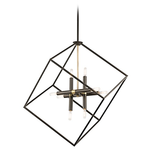 Kichler Lighting Geometric Bronze Multi-Light Pendant 42526OZ KIT W/LED CANDELABRA BULBS