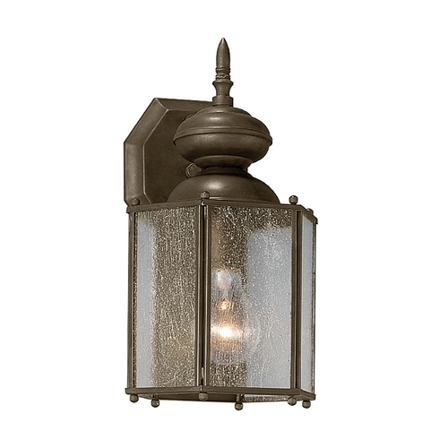 Progress Lighting Seeded Glass Outdoor Wall Light Bronze Progress Lighting P5777-20