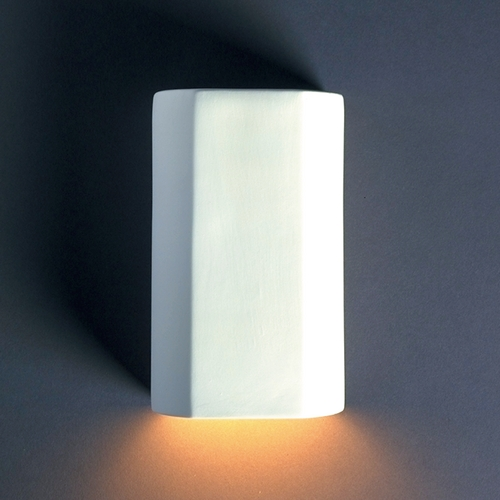 Justice Design Group Sconce Wall Light in Bisque Finish CER-5500-BIS