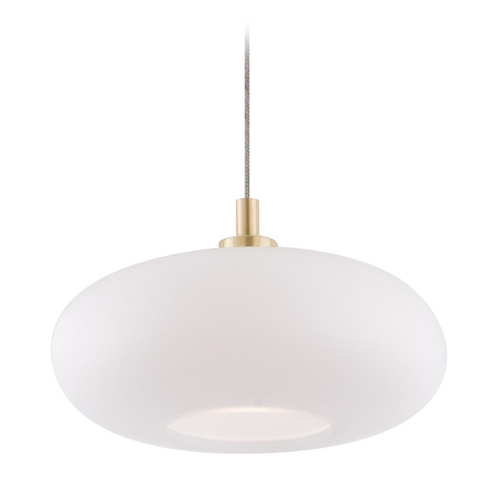 Holtkoetter Lighting Holtkoetter Modern Low Voltage Mini-Pendant Light with White Glass C8110 S006 G5701 BB