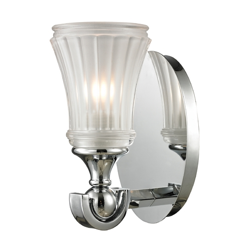 Elk Lighting Sconce Wall Light with White Glass in Polished Chrome Finish 11680/1